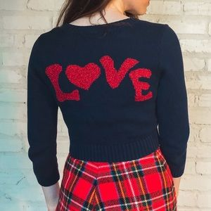 "RARE ""Love"" Betsey Johnson Cardigan ❤️❤️❤️"